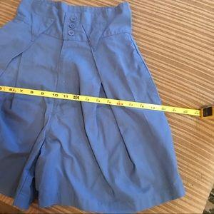 Vintage Shorts - VTG BLUE high waisted shorts sz 5/6